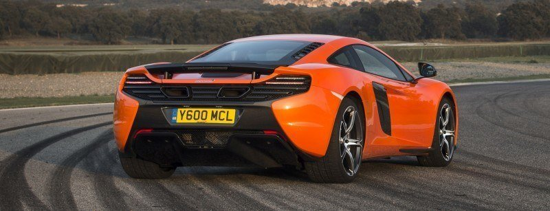 Car-Revs-Daily.com 2014 McLaren 650S Coupe and Spider Launch Ascari Circuit 45