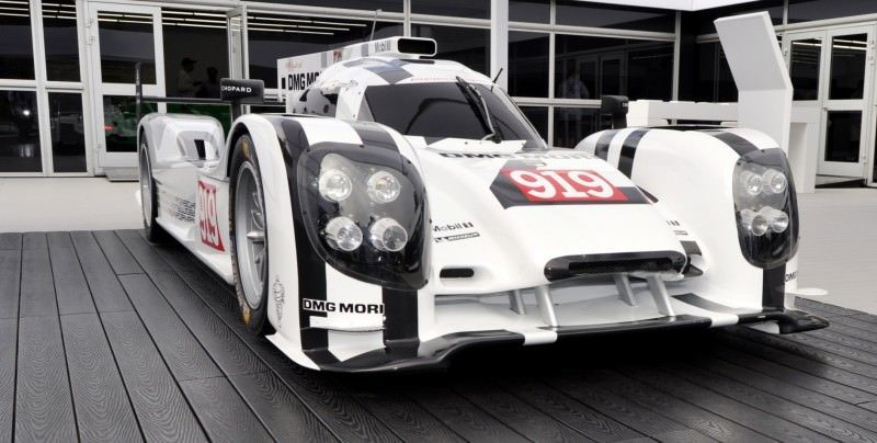 Car-Revs-Daily.com 2014 Porsche 919 LMP1 Racecar at the Quail 54