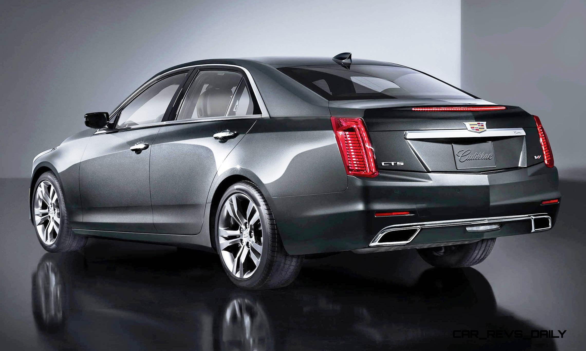 2015 cadillac cts updated with new badges led brake lights exhaust details and cabin tech. Black Bedroom Furniture Sets. Home Design Ideas