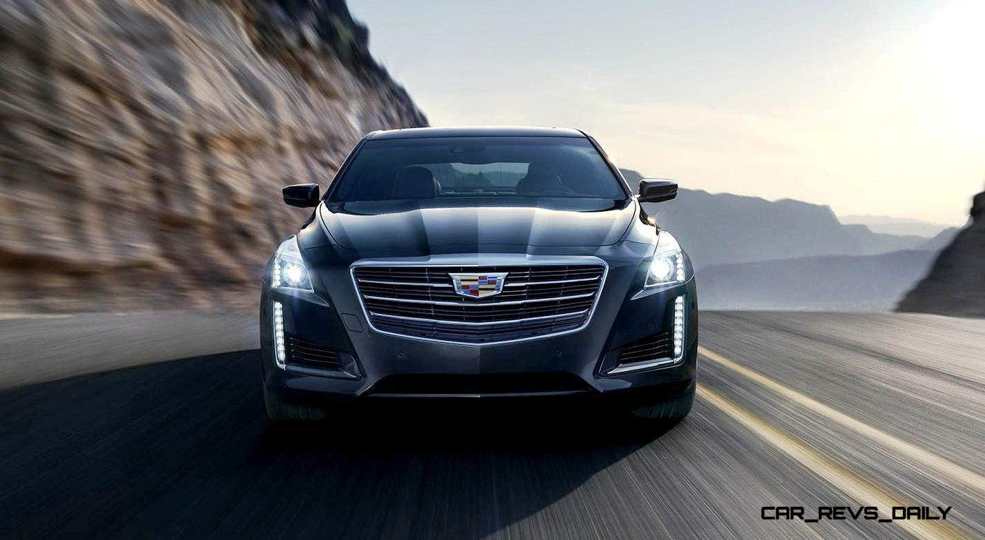 2015 Cadillac CTS Updated With New Badges, LED Brake Lights, Exhaust Details and Cabin Tech