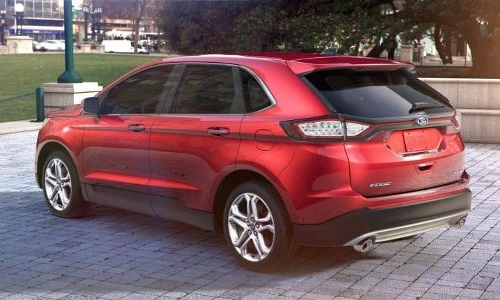 CarRevsDailycom 2015 Ford Edge  RUBY RED 12