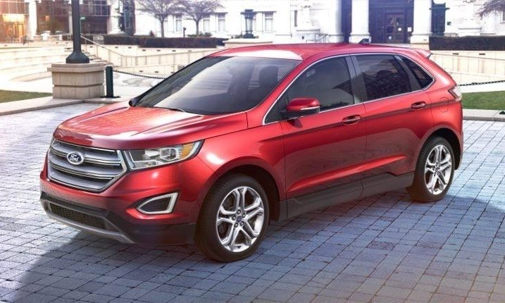 CarRevsDailycom 2015 Ford Edge  RUBY RED 4