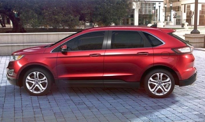 CarRevsDailycom 2015 Ford Edge  RUBY RED 8