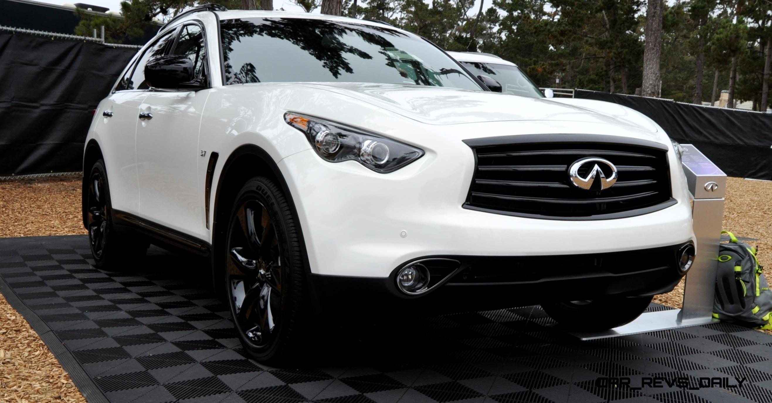 2015 infiniti qx70s brings new sport package with black exterior and cooled front seats. Black Bedroom Furniture Sets. Home Design Ideas