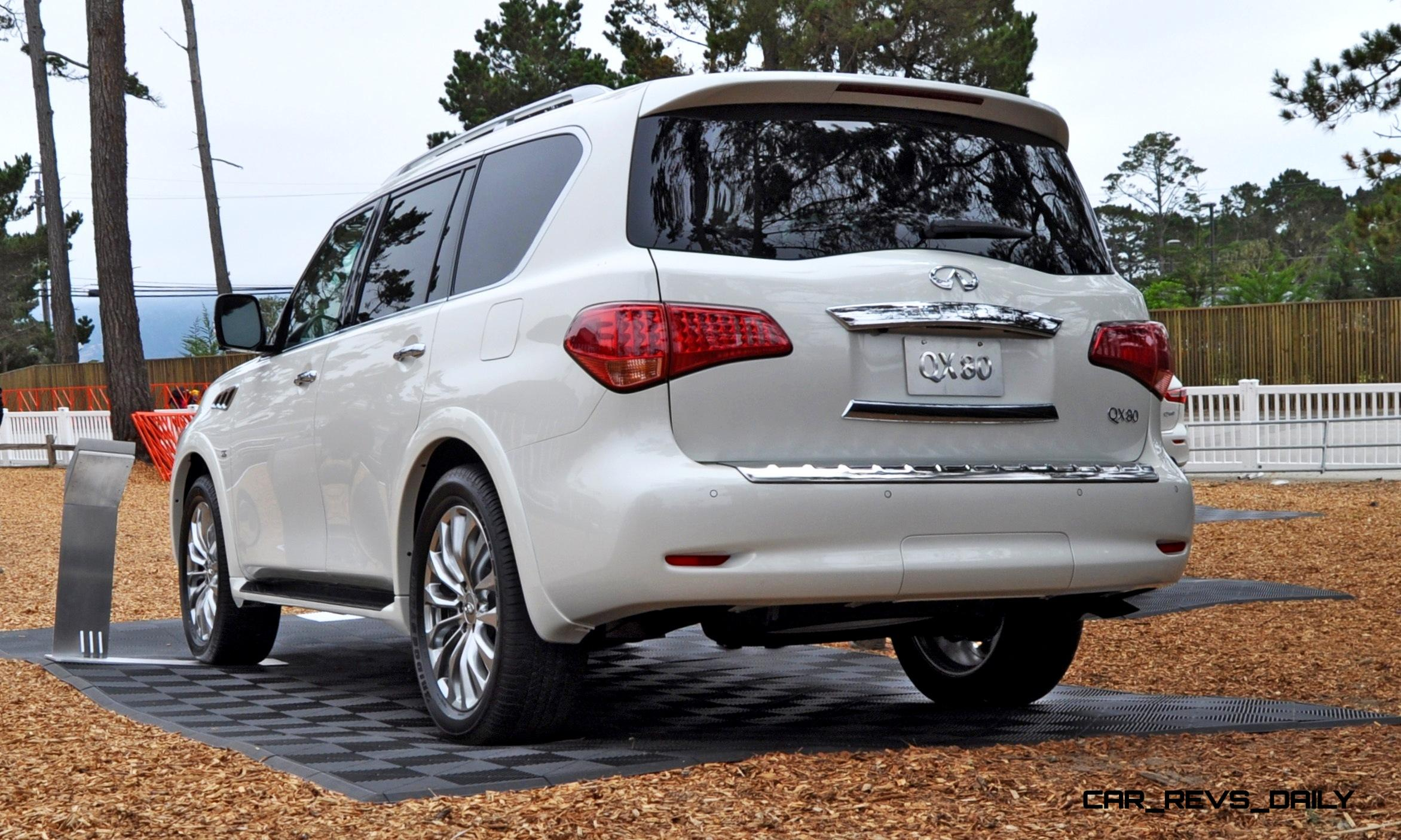 2015 infiniti qx80 pebble beach photos specs options pricing colors. Black Bedroom Furniture Sets. Home Design Ideas