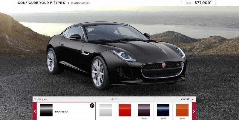 Car-Revs-Daily.com 2015 JAGUAR F-Type S Coupe - Options, Exteriors and Interior Colors Detailed1