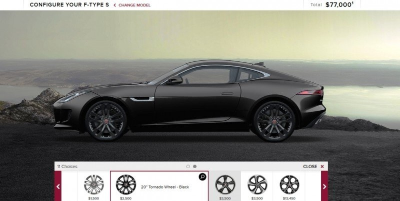 Car-Revs-Daily.com 2015 JAGUAR F-Type S Coupe - Options, Exteriors and Interior Colors Detailed11