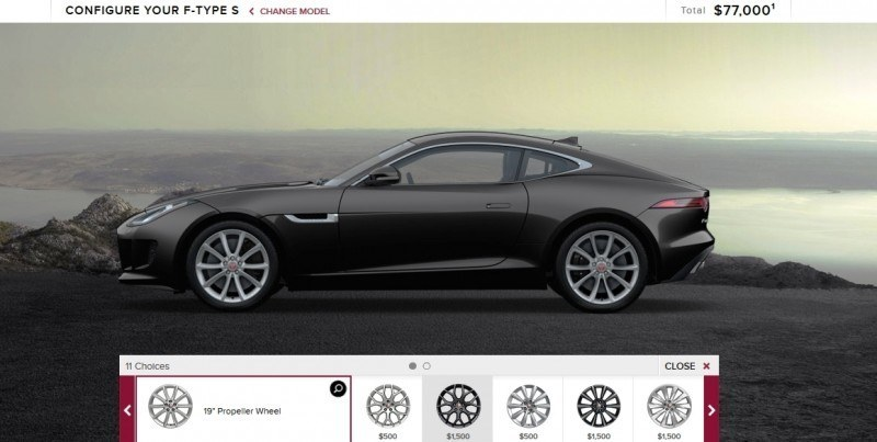 Car-Revs-Daily.com 2015 JAGUAR F-Type S Coupe - Options, Exteriors and Interior Colors Detailed4