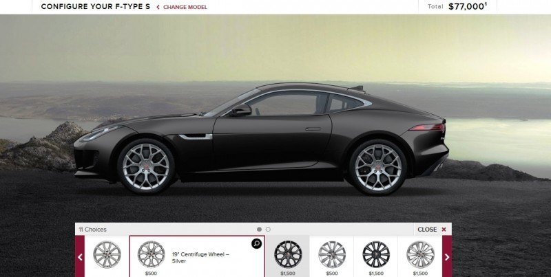 Car-Revs-Daily.com 2015 JAGUAR F-Type S Coupe - Options, Exteriors and Interior Colors Detailed5