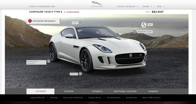 Car-Revs-Daily.com 2015 JAGUAR F-Type S Coupe - Options, Exteriors and Interior Colors Detailed66