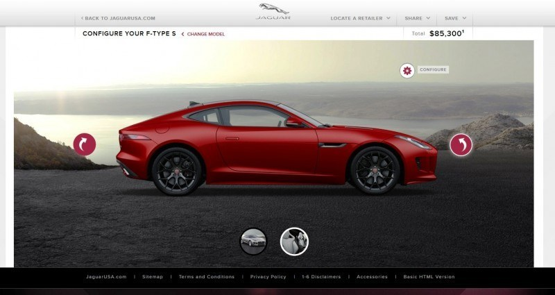 Car-Revs-Daily.com 2015 JAGUAR F-Type S Coupe - Options, Exteriors and Interior Colors Detailed69