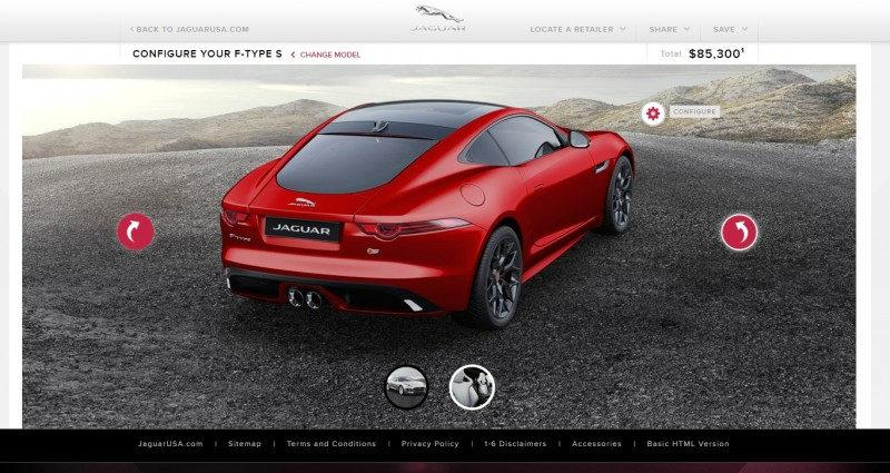 Car-Revs-Daily.com 2015 JAGUAR F-Type S Coupe - Options, Exteriors and Interior Colors Detailed70
