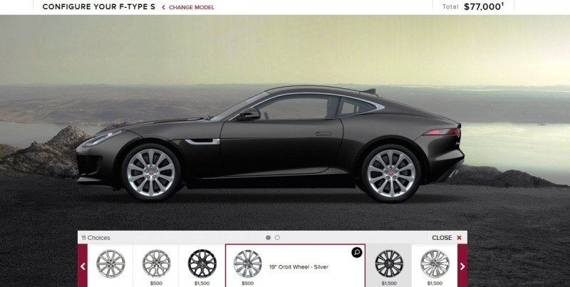 Car-Revs-Daily.com 2015 JAGUAR F-Type S Coupe - Options, Exteriors and Interior Colors Detailed7