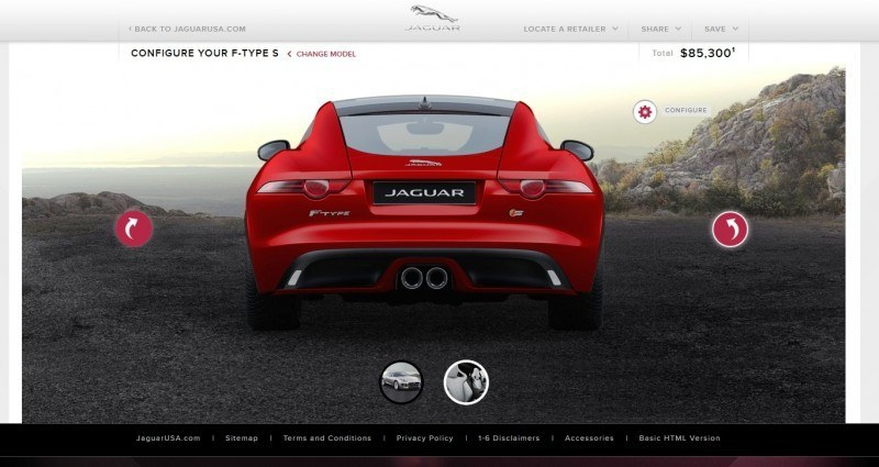 Car-Revs-Daily.com 2015 JAGUAR F-Type S Coupe - Options, Exteriors and Interior Colors Detailed71