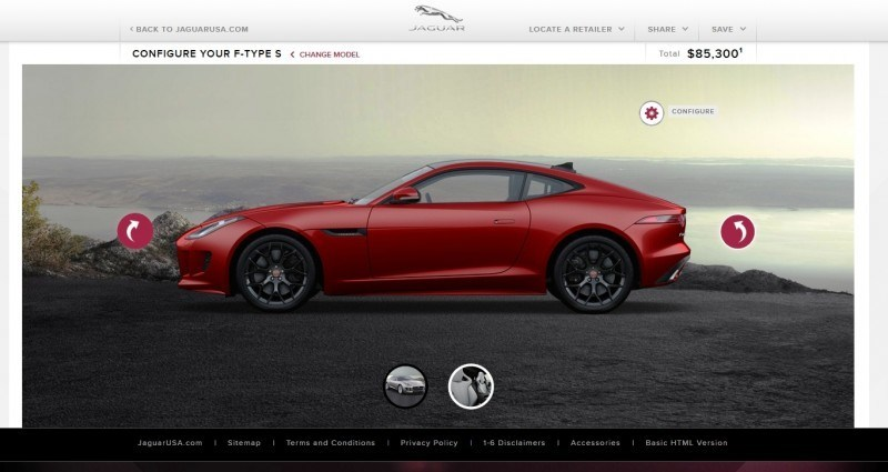Car-Revs-Daily.com 2015 JAGUAR F-Type S Coupe - Options, Exteriors and Interior Colors Detailed72