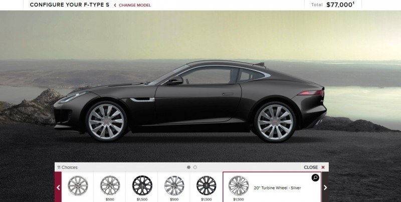Car-Revs-Daily.com 2015 JAGUAR F-Type S Coupe - Options, Exteriors and Interior Colors Detailed9