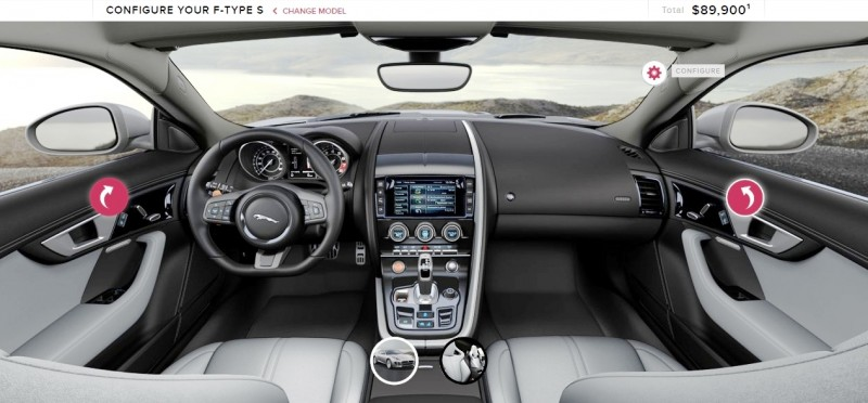 Car-Revs-Daily.com 2015 JAGUAR F-Type S Coupe - Options, Exteriors and Interior Colors Detailed92