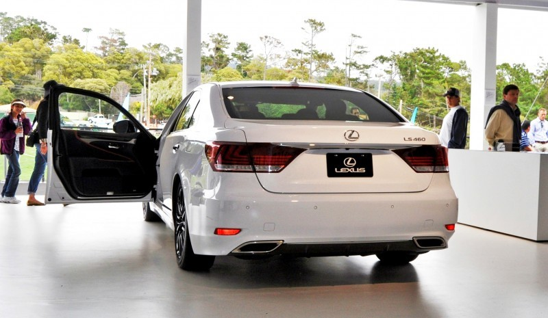 Car-Revs-Daily.com 2015 Lexus LS460 F Sport Crafted Line Is Most-Enhanced by Glossy Black and White Makeover 1