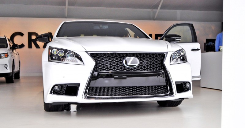 Car-Revs-Daily.com 2015 Lexus LS460 F Sport Crafted Line Is Most-Enhanced by Glossy Black and White Makeover 17