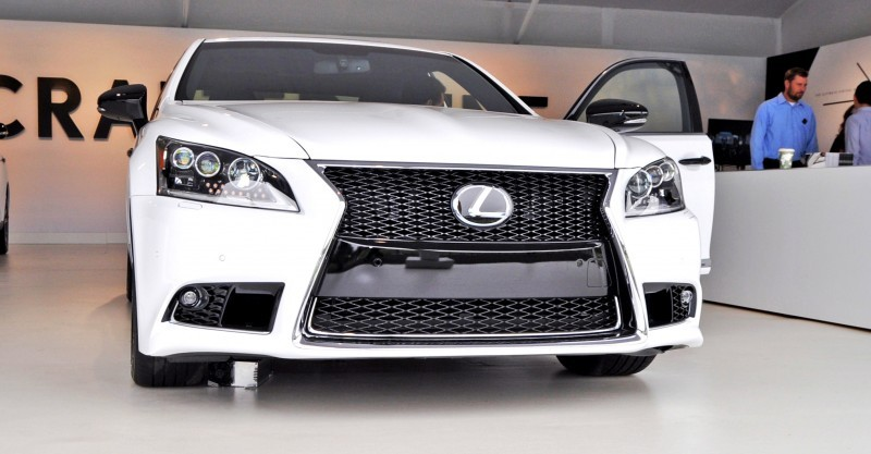 Car-Revs-Daily.com 2015 Lexus LS460 F Sport Crafted Line Is Most-Enhanced by Glossy Black and White Makeover 18