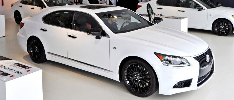 Car-Revs-Daily.com 2015 Lexus LS460 F Sport Crafted Line Is Most-Enhanced by Glossy Black and White Makeover 30