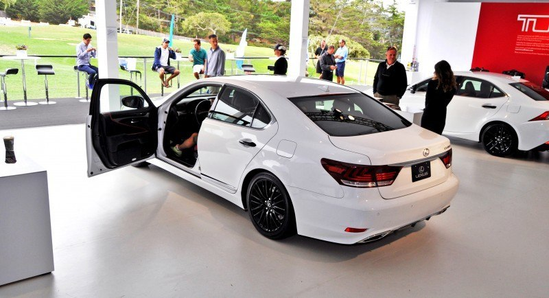 Car-Revs-Daily.com 2015 Lexus LS460 F Sport Crafted Line Is Most-Enhanced by Glossy Black and White Makeover 9