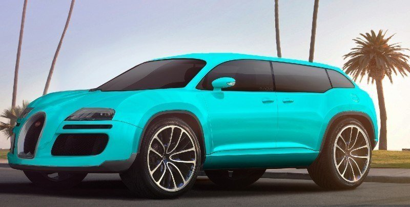 Car-Revs-Daily.com 2017 BUGATTI SUV Renderings 1