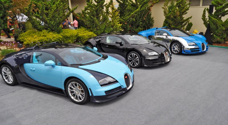 Car-Revs-Daily.com All Six Bugatti Veyron Legends Together In Pebble Beach 2014 3