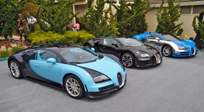 Car-Revs-Daily.com All Six Bugatti Veyron Legends Together In Pebble Beach 2014 4