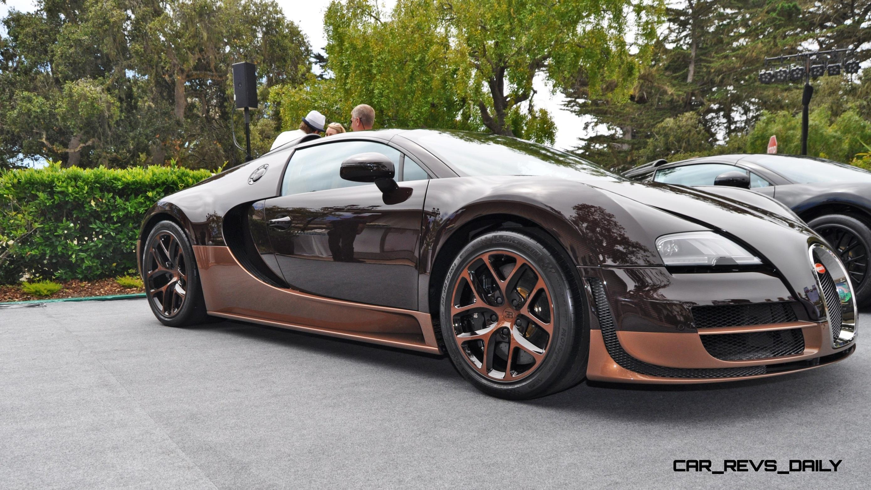 all six bugatti veyron legends together in pebble beach 2014. Black Bedroom Furniture Sets. Home Design Ideas