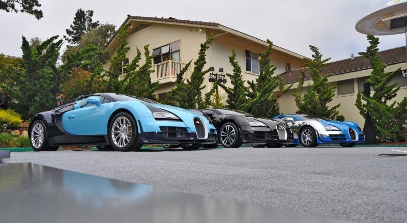 Car-Revs-Daily.com All Six Bugatti Veyron Legends Together In Pebble Beach 2014 5
