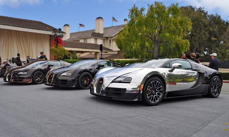 Car-Revs-Daily.com All Six Bugatti Veyron Legends Together In Pebble Beach 2014 58
