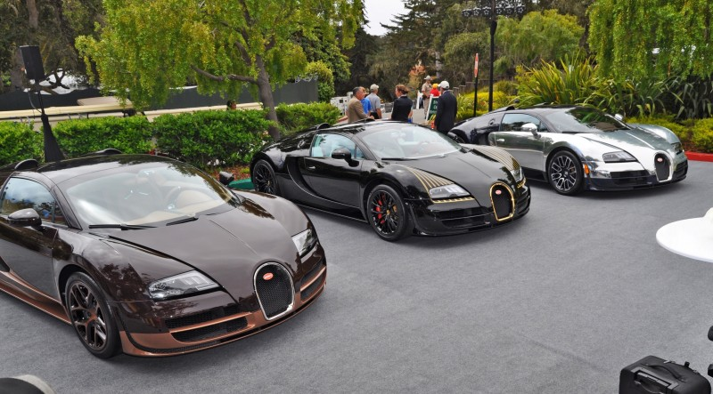 Car-Revs-Daily.com All Six Bugatti Veyron Legends Together In Pebble Beach 2014 59