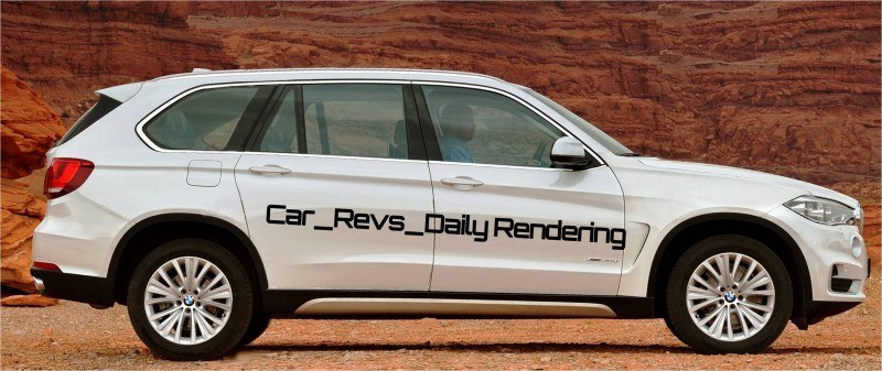 Car-Revs-Daily.com Digital Rendering of 2015 BMW X7 beside 2014 BMW X5 2