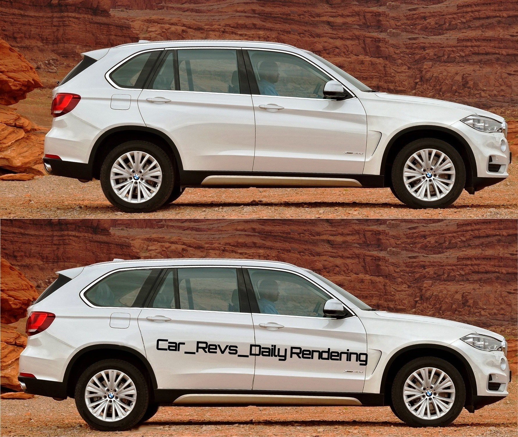 Bmw X7 2015: Digital Rendering Shows Modest Wheelbase