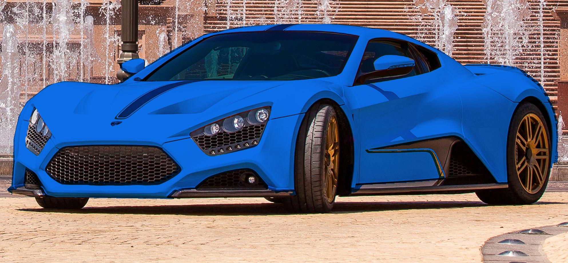 Zenvo St1 Blue 2014 Zenvo St1 Colorizer 7