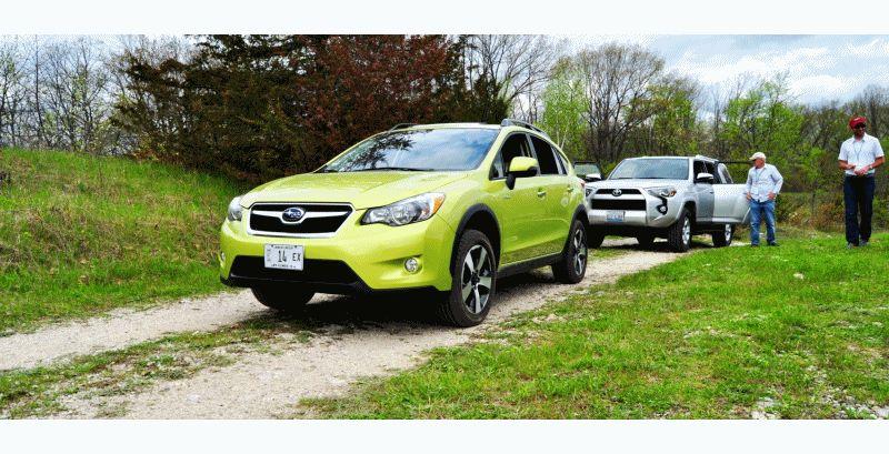 Car-Revs-Daily.com Goes Off-Roading in 2014 Subaru XV Crosstrek Hybrid GIF2