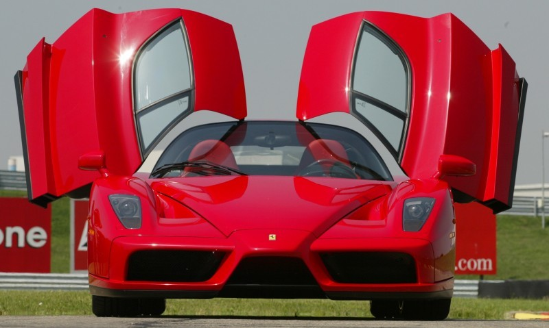 Car-Revs-Daily.com Hypercar Hall of Fame - 2003 Enzo Ferrari in 77 Original Maranello Launch Photos 12