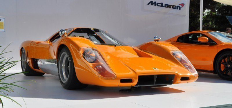 Car-Revs-Daily.com Hypercar Icons - 1969 McLaren M6B GT with 2014 McLaren 650S at The Quail  11