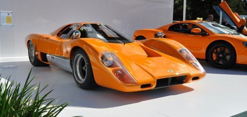 Car-Revs-Daily.com Hypercar Icons - 1969 McLaren M6B GT with 2014 McLaren 650S at The Quail  12