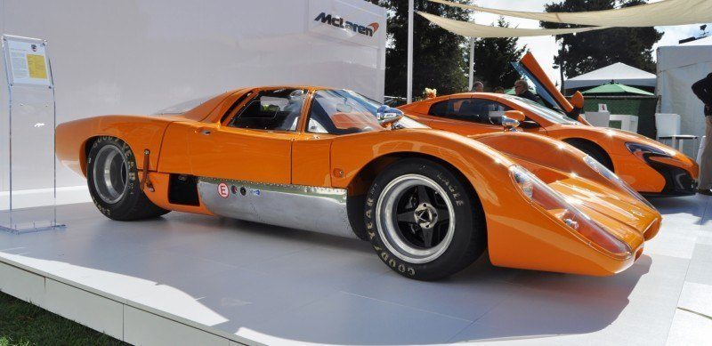 Car-Revs-Daily.com Hypercar Icons - 1969 McLaren M6B GT with 2014 McLaren 650S at The Quail  14