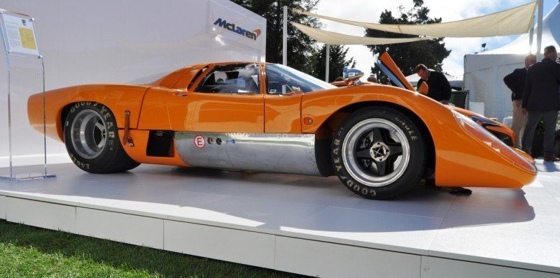 Car-Revs-Daily.com Hypercar Icons - 1969 McLaren M6B GT with 2014 McLaren 650S at The Quail  15