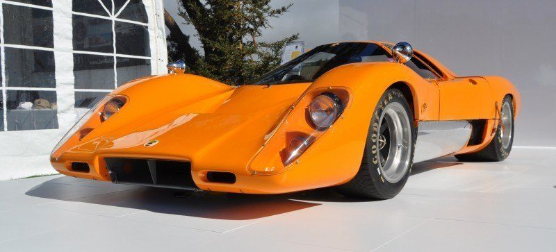 Car-Revs-Daily.com Hypercar Icons - 1969 McLaren M6B GT with 2014 McLaren 650S at The Quail  29