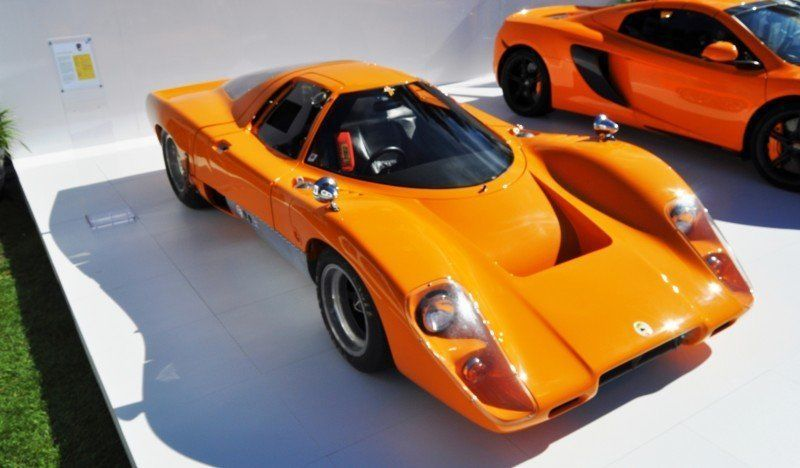Car-Revs-Daily.com Hypercar Icons - 1969 McLaren M6B GT with 2014 McLaren 650S at The Quail  33