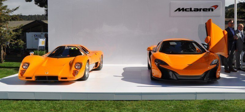 Car-Revs-Daily.com Hypercar Icons - 1969 McLaren M6B GT with 2014 McLaren 650S at The Quail  38