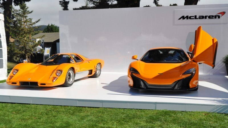 Car-Revs-Daily.com Hypercar Icons - 1969 McLaren M6B GT with 2014 McLaren 650S at The Quail  39