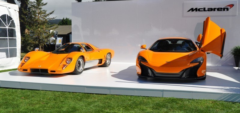 Car-Revs-Daily.com Hypercar Icons - 1969 McLaren M6B GT with 2014 McLaren 650S at The Quail  40