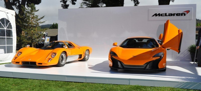 Car-Revs-Daily.com Hypercar Icons - 1969 McLaren M6B GT with 2014 McLaren 650S at The Quail  41