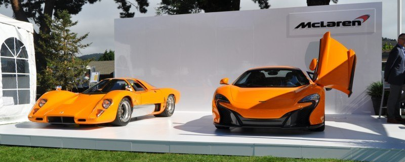 Car-Revs-Daily.com Hypercar Icons - 1969 McLaren M6B GT with 2014 McLaren 650S at The Quail  42