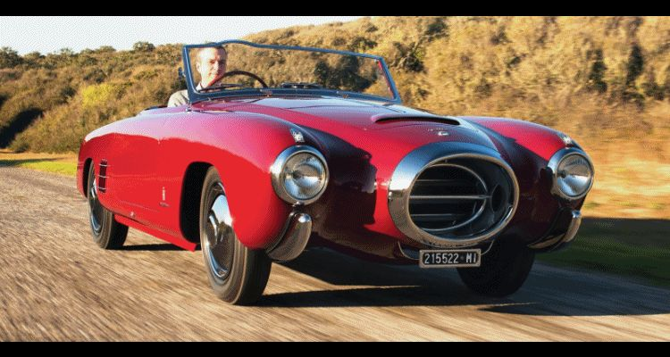 Car-Revs-Daily.com RM Monterey 2014 Preview - 1953 Lancia Aurelia PF200 C Spider by Pinin Farina GIF header